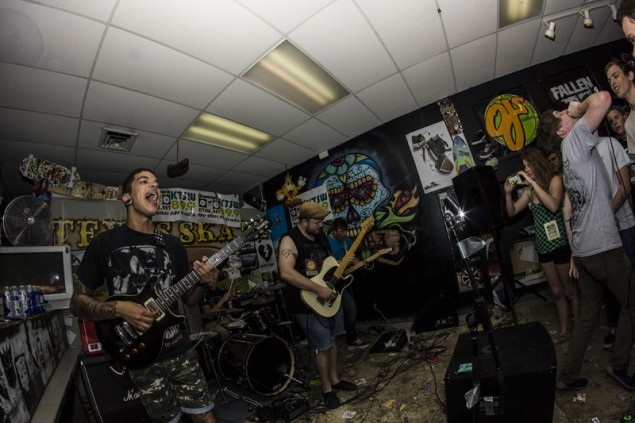 Old Problems performing at Texas Skate during MR Fest