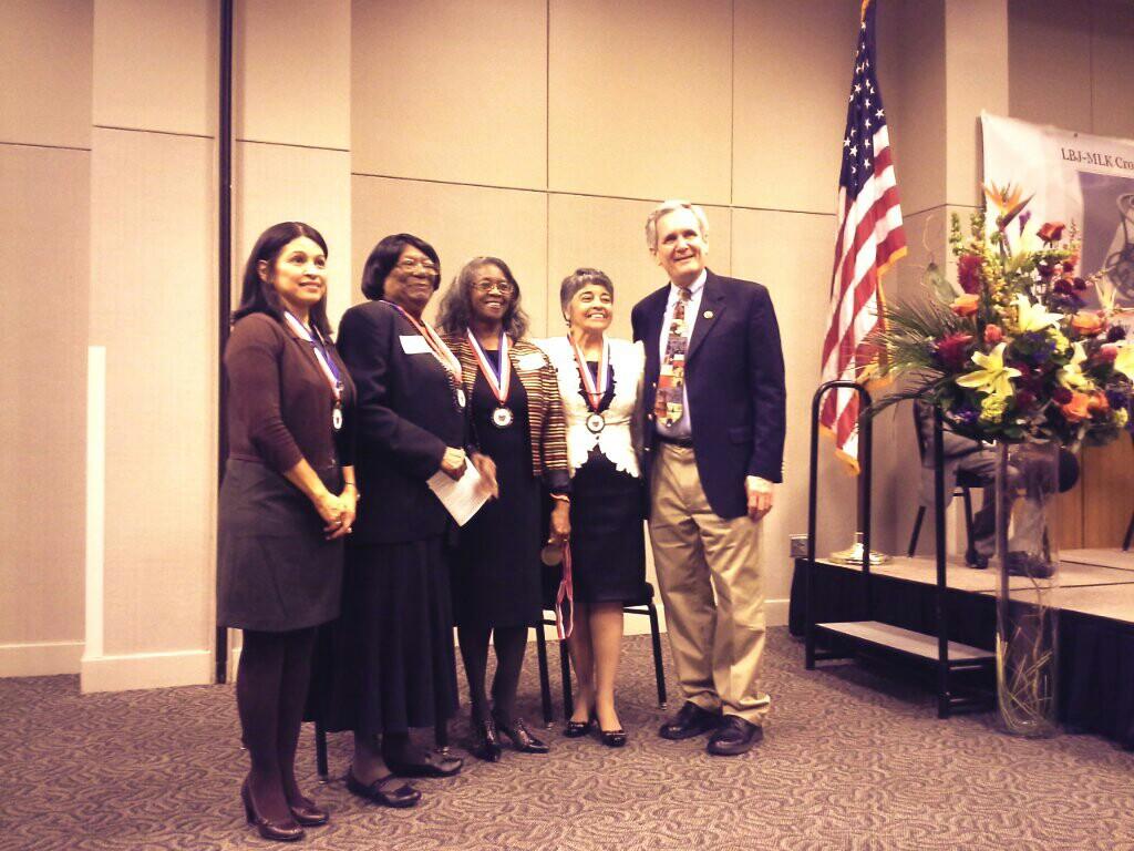 Congressman Lloyd Doggett with local leaders and trailblazers