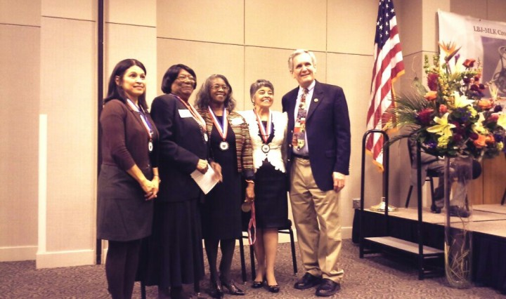 Congressman Lloyd Doggett with local leaders and trailblazers