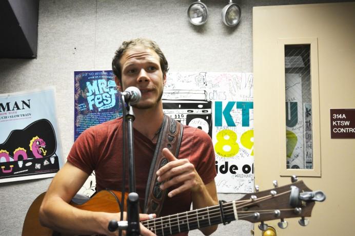 Kyle Offidani in the KTSW Studio
