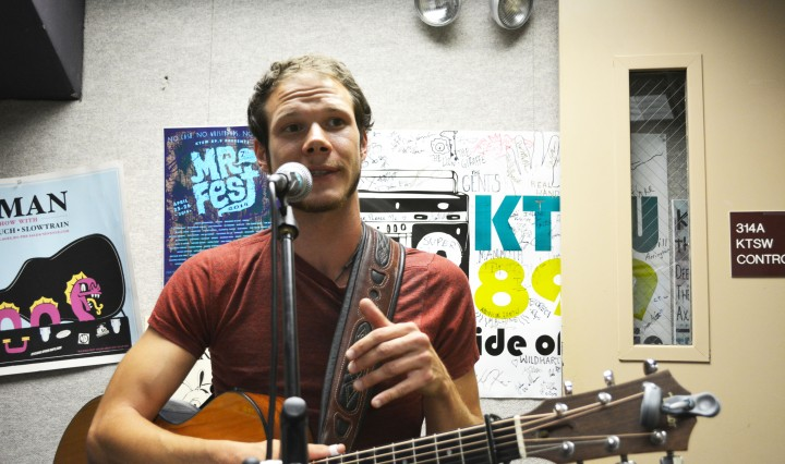 Kyle Offidani in the KTSW Studio