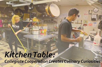 Students at 21st Street Co-op cook and work in the community kitchen