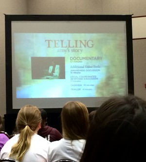 """Texas State screening of """"Telling Amy's Story"""""""