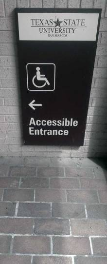 Accessible entrence