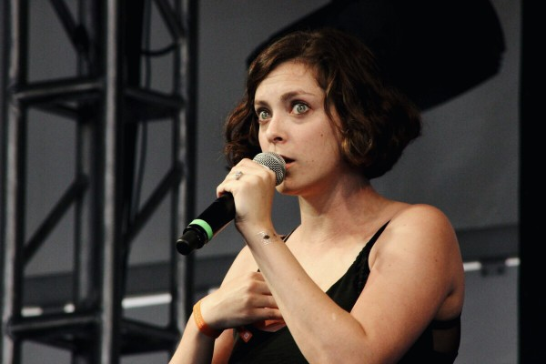 Rachel Bloom during her set at the Yellow Stage Photo by Janelle Abad