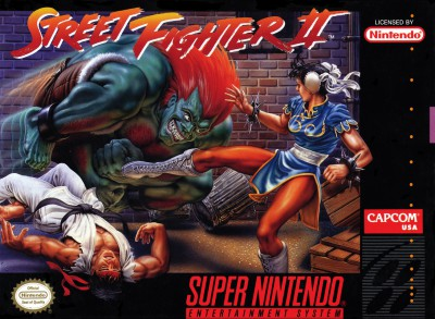 Street Fighter II game cover (Super Nintendo)