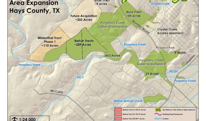 Purgatory Creek map