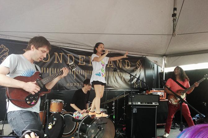 Deerhoof performing at Wonderland. Photo by Tafari Robertson