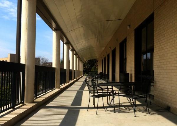 LBJ Student Center Balcony. Photo by Daryan Jones