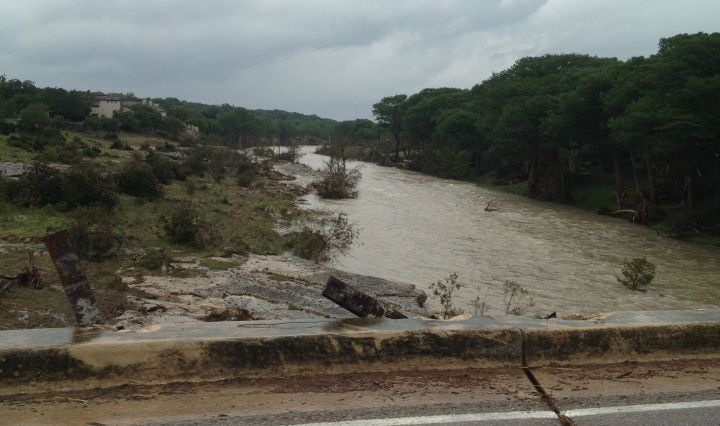 the blanco river rises by Wimberley