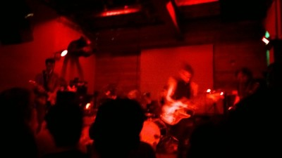 Destruction Unit playing, red lights.