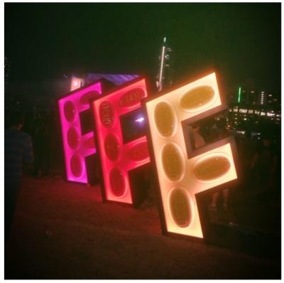 Fun Fun Fun Fest night art last year, 2014 (Photo Courtesy: Erin Pollack)