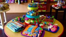 Displayed candy includes Razzles, Hubba Bubba and much more.