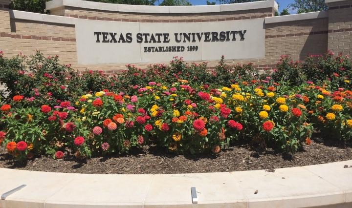 texas state university sign