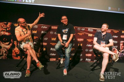 """Dirty Romance"" Q&A during Fantastic Fest on Wednesday, Sept. 30, 2015 in Austin, Texas. (Photo by Jack Plunkett)"
