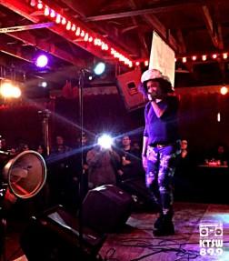 Austin MC Anya had Spiderhouse turnt on Saturday for the Return Of Weird City Fest. Photo by Alexx Ward