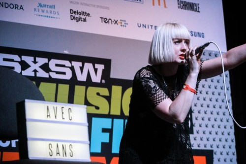 Alice Fox of Avec Sans at the International Day Stage at SXSW 2016. Photo by Janelle Abad.
