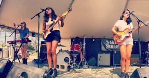 La Luz performing at the Good Vibrations daytime showcase. Photo by Ashley Galvan.