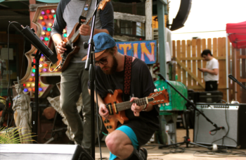 Peter Michal of Hibou performs at SXSW. Photo by Brittany Robinson.