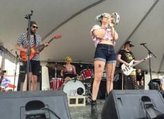 Tacocat performing at the Good Vibrations daytime showcase. Photo by Ashley Galvan.