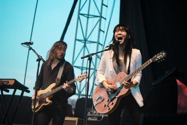 Thao and the Get Down Stay Down at the SXSW Outdoor Stage. Photo by Janelle Abad.