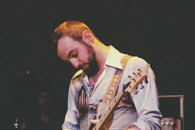 Tweed Guitarist AJ DiBiase at Head for the Hills. Photo by Kendra Sells.