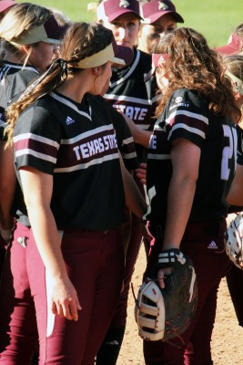 The Texas State softball team. Photo by Madison Tyson.