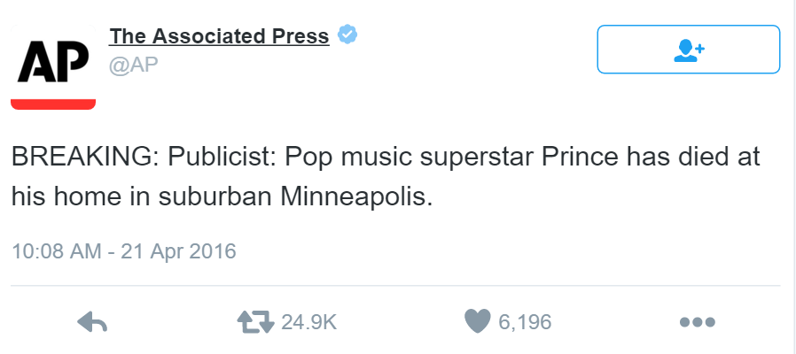Prince Death Announcement