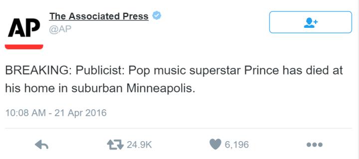 Prince Death Announcement