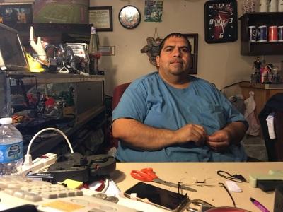 Tony Romero, owner of Junk in Da Trunk. Photo by Sarah Bey.