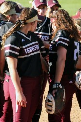 The Texas State softball team will be playing in the Tuscaloosa regional tournament. Photo by Madison Tyson.