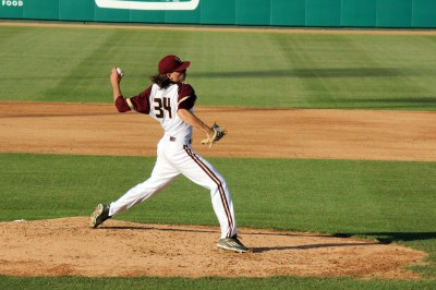 Pitcher Jonathan Hennigan was selected in the 21st round of the 2016 MLB Draft. Photo by Madison Tyson.