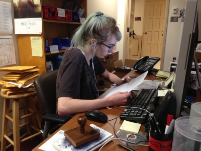 KTSW Assistant music Director Allison Belcher