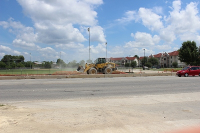 Construction on the Loop 82 overpass is set to start in September. Photo by Conor Yarbrough.