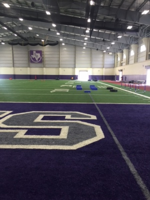 San Marcos High School's indoor sports facility. Photo by Russell Ramsey.