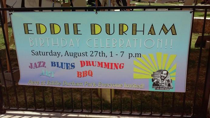 Eddie Durham event banner. Photo by Aaron Derton.