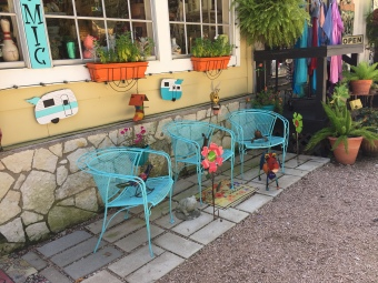 The town is full of cute set-ups just like this one! Photo by Kimerly Garcia.