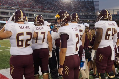 Texas State's football home opener is Saturday, September 16 against Arkansas. Photo by Kiersten Ehr.
