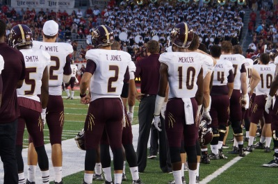 Texas State will face off against the University of Houston Cougars on Saturday. Photo by Kiersten Ehr.