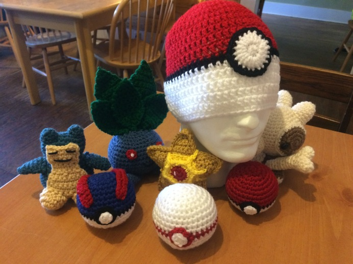 A variety of crochet items available for purchase. Photo by Alisa Pierce.