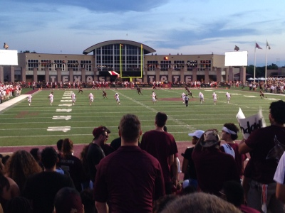 Although the Bobcats lost to the Cougars, Texas State set a record for game attendance. Photo by Belen Ramos.