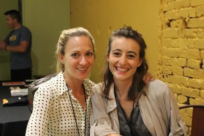 Eve Marson (left) with Dr. Feelgood producer Sara Goldblatt. Photo by Conor Yarbrough.