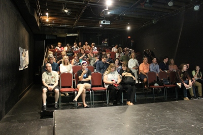 The Crowd before the screening of Dr. Feelgood. Photo by Conor Yarbrough.