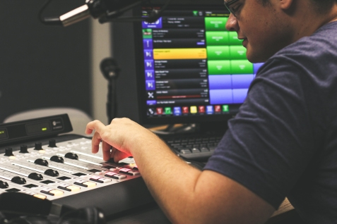 Adam Byerly produces the KTSW Sports show (7:00 pm-10:30 pm), while his rest of his team reports live from the San Marcos HS Rattlers vs Bowie HS football game.