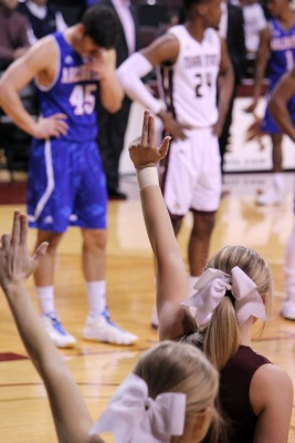 The Texas State men's basketball team in 2-2 so far this season. Photo by Madison Tyson.