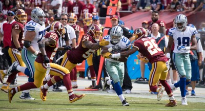 The Cowboys have beaten the Washinton Redskins twice this season. Photo by Keith Allison via Flickr.
