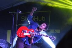 'Benjamin Booker slaying on his guitar.