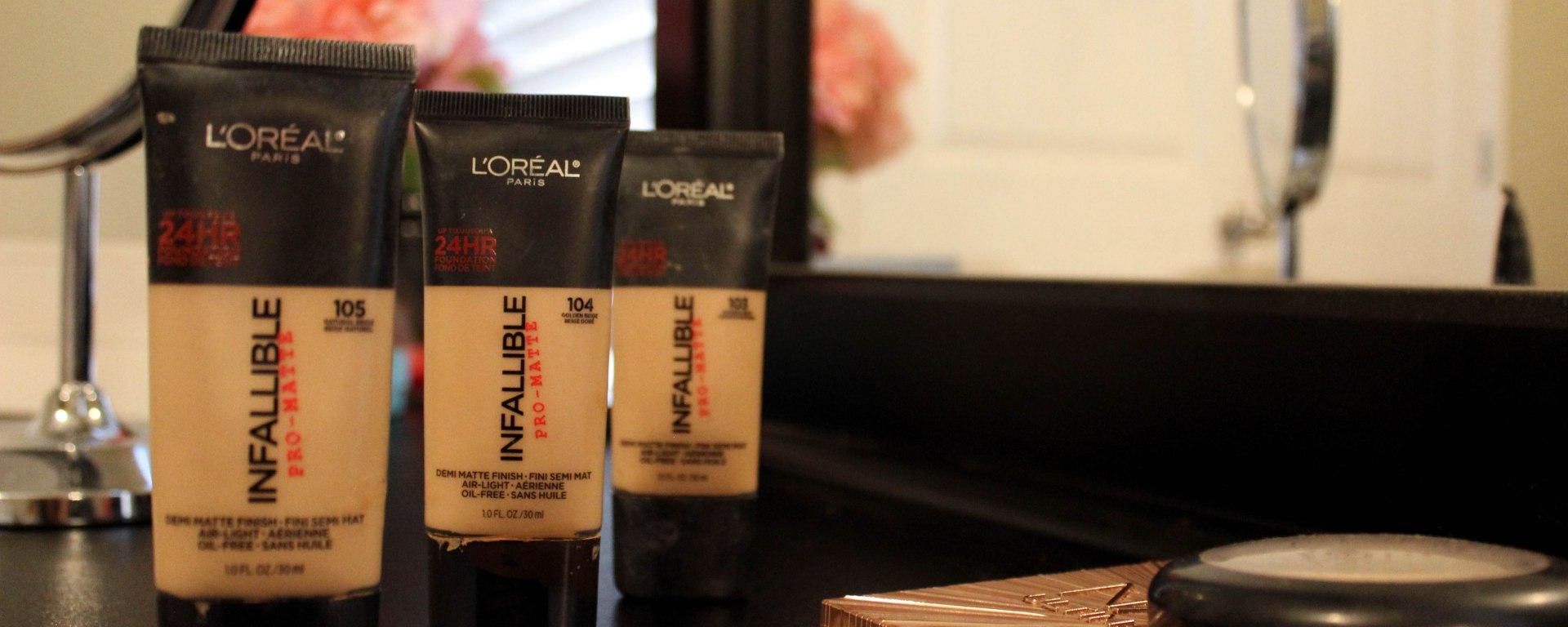Loral Infallible Pro Matte 24hr Foundation Makeup Review Ktsw 899 Loreal Paris