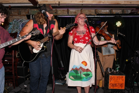 Rock Bottom String Band ending the show with their upbeat bluegrass/folk/punk music.