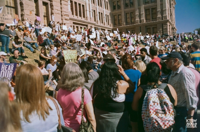 The Women's March here in Austin was a sister march to the main one in Washington D.C. which had over one million attendees. (Women's March; 35mm Film)